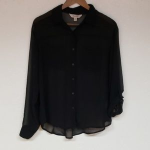 Decree long sleeve sheer blouse